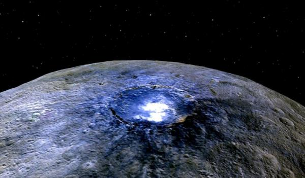 Ceres, the dwarf planet between Mars and Jupiter, has water